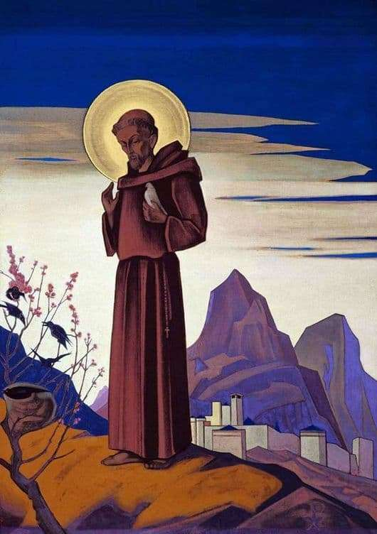 Description of the painting by Nicholas Roerich St. Francis of Assisi