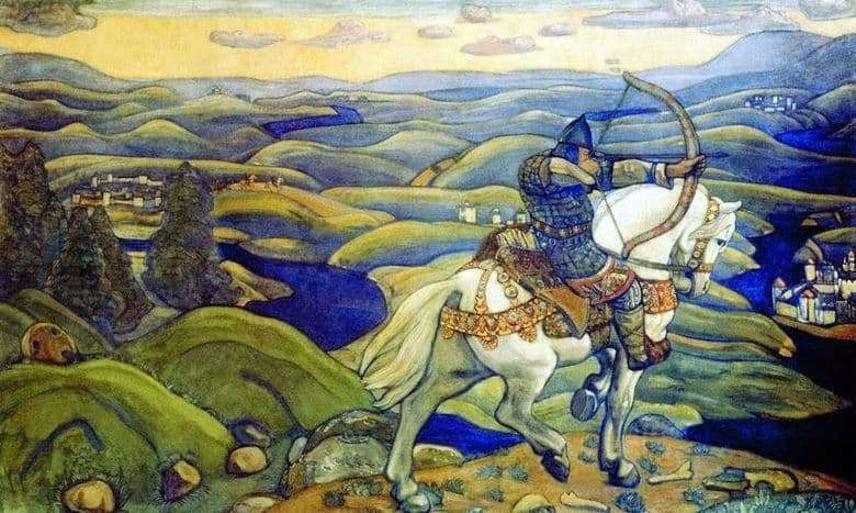 Description of the painting by Nicholas Roerich Ilya of Murom