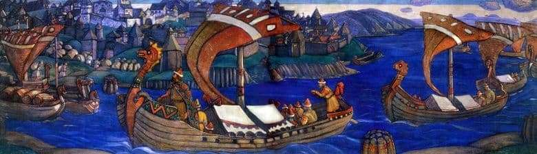 Description of the painting by Nicholas Roerich Sadko