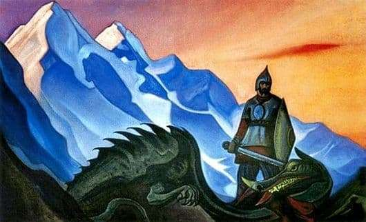 Description of the painting by Nicholas Roerich Victory