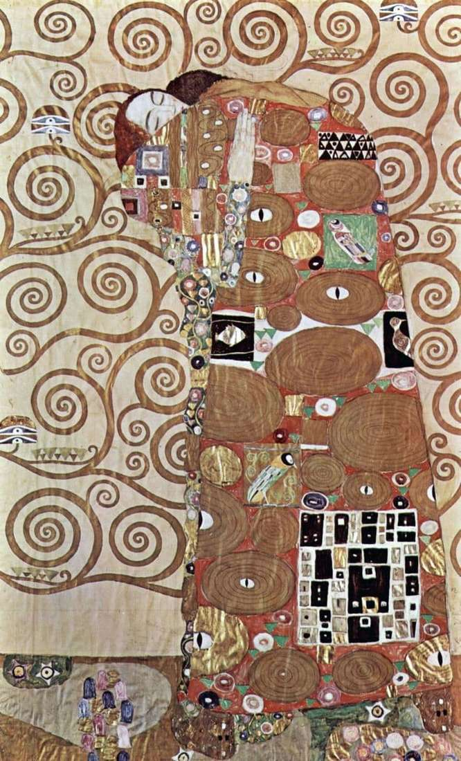 Description of the painting by Gustav Klimt Embrace