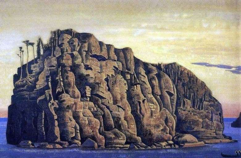 Description of the painting by Nicholas Roerich Holy Island