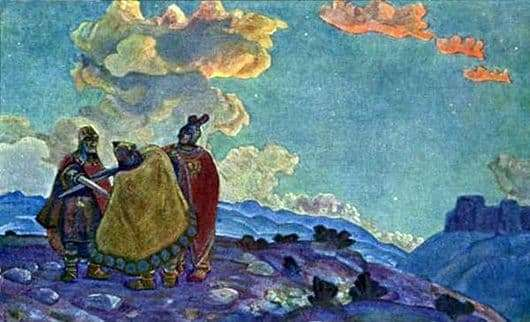 Description of the painting by Nicholas Roerich Crown
