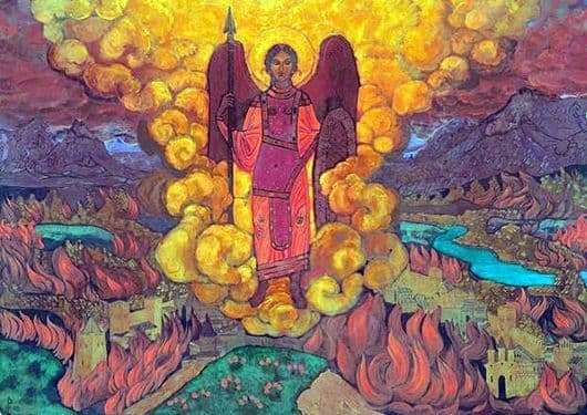 Description of the painting by Nicholas Roerich The Angel of the Last