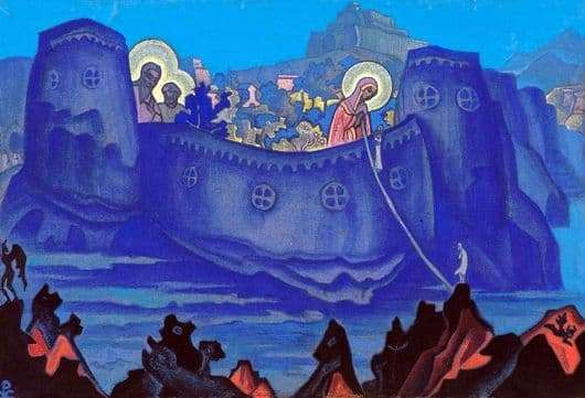 Description of the painting by Nicholas Roerich Works of the Mother of God