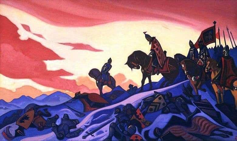 Description of the painting by Nicholas Roerich Alexander Nevsky