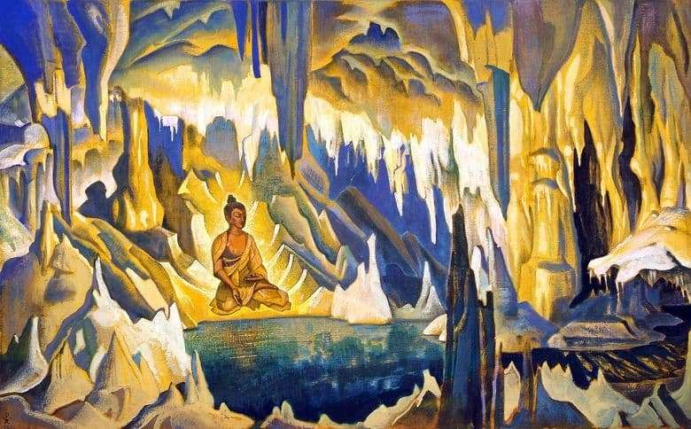 Description of the painting by Nicholas Roerich Buddha   the winner