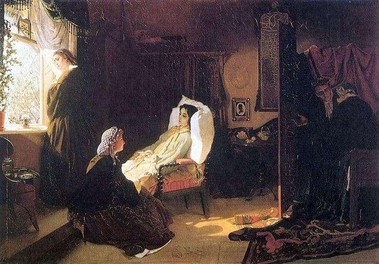 Description of the painting by Mikhail Klodt Last Spring (1861)