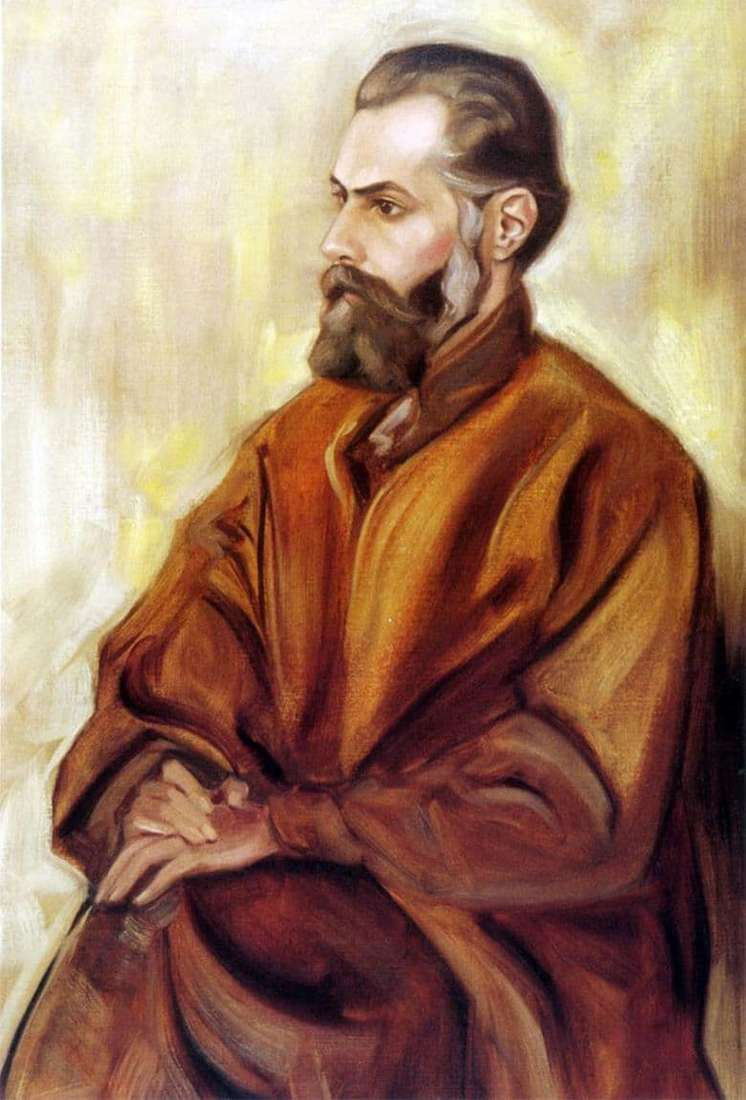 Description of the painting by Svyatoslav Roerich Self portrait