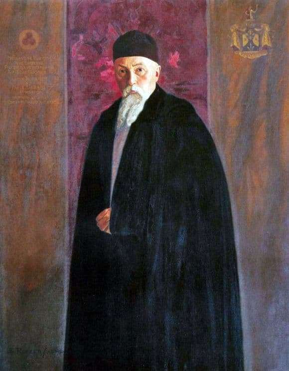 Description of the painting by Svyatoslav Roerich Portrait of Nicholas Roerich