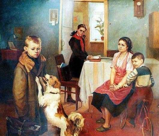 Description of the painting by Fedor Reshetnikov Again deuce
