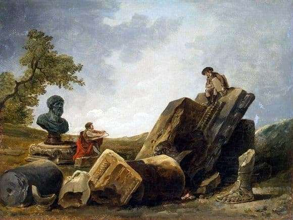 Description of the painting by Hubert Robert Artists