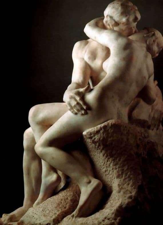 Description of the sculpture by Francois Auguste Rodin Kiss