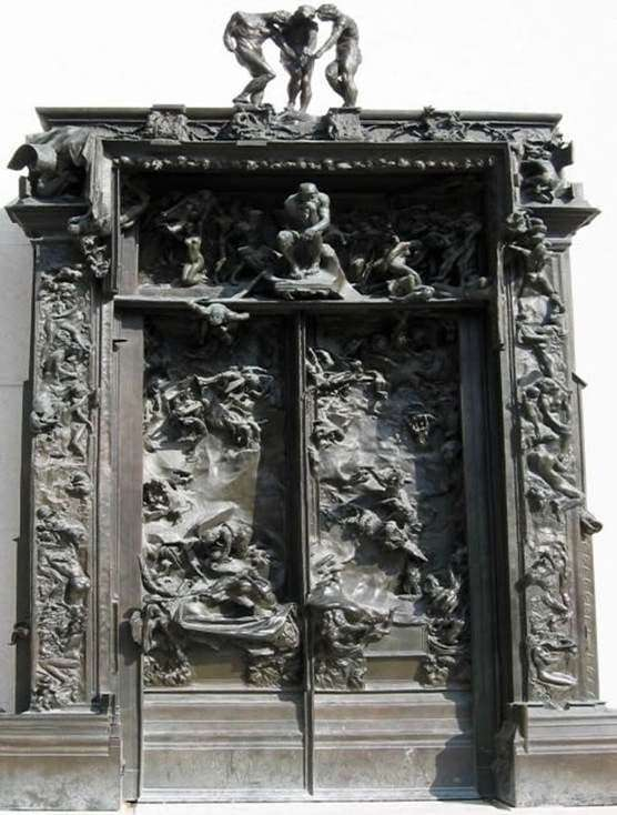Description of the sculptural composition of Francois Auguste Rodin Gates of Hell