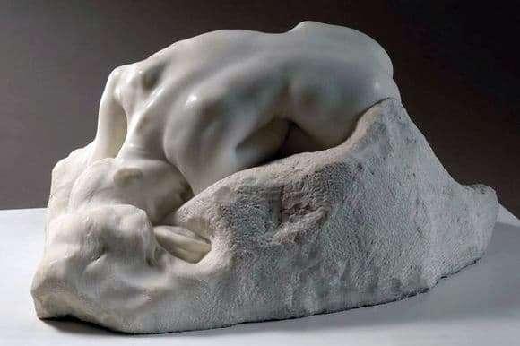 Description of the sculpture by Francois Rodin Danaid