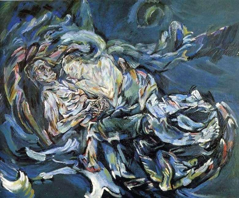 Description of the painting by Oscar Kokoschka The Bride of the Wind