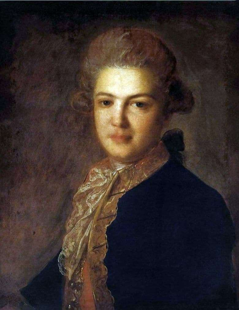 Description of the painting by Fedor Rokotov Portrait of Count A. I. Vorontsov
