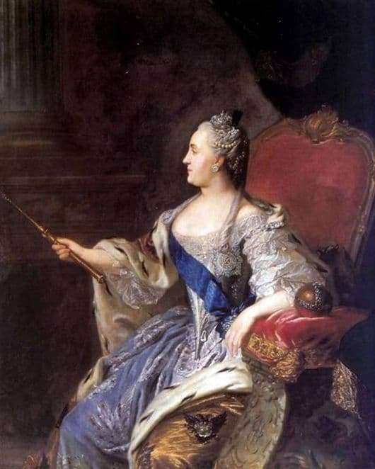 Description of the painting by Fedor Rokotov Portrait of Catherine II