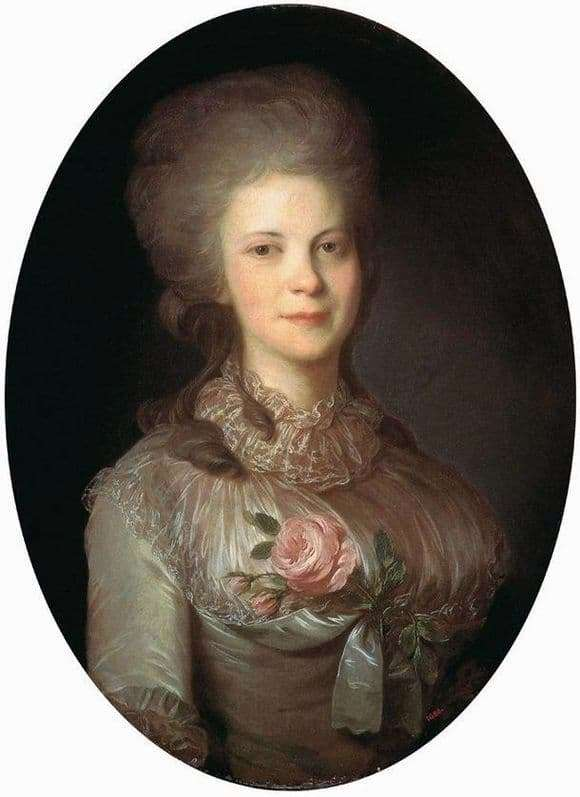 Description of the painting by Fedor Rokotov Portrait of Surovtseva