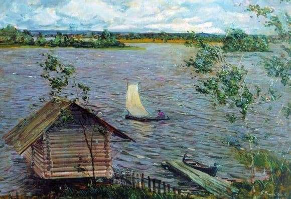 Description of the painting by Nicholas Romadin Fresh wind