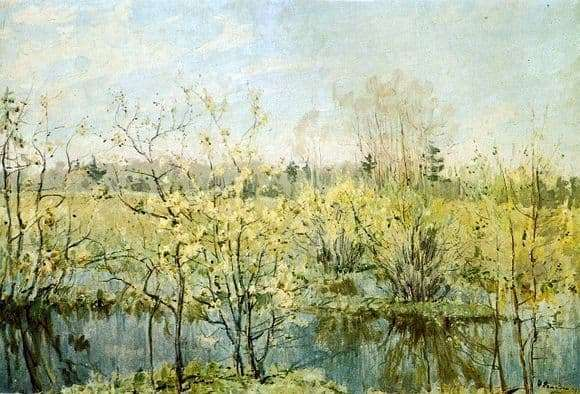 Description of the painting by Nicholas Romadin The first bloom