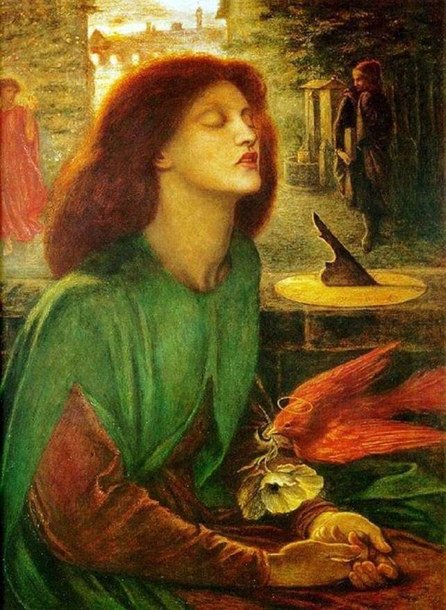 Description of the painting by Dante Rossetti Beatrice Blessed
