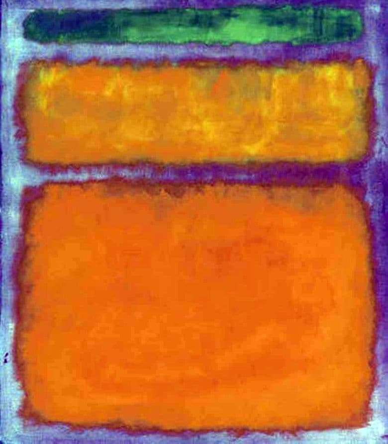 Description of the painting by Mark Rothko Orange, red, yellow