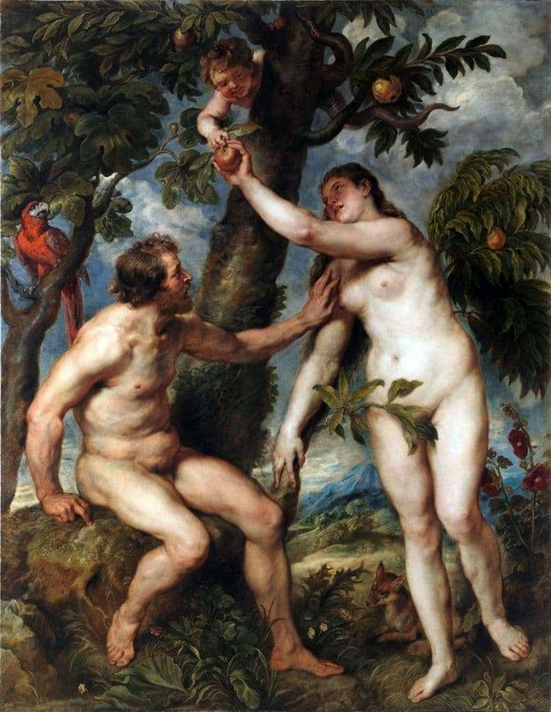 Description of the painting by Peter Rubens Adam and Eve