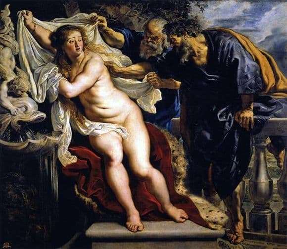 Description of the painting by Peter Rubens Susanna and the Elders
