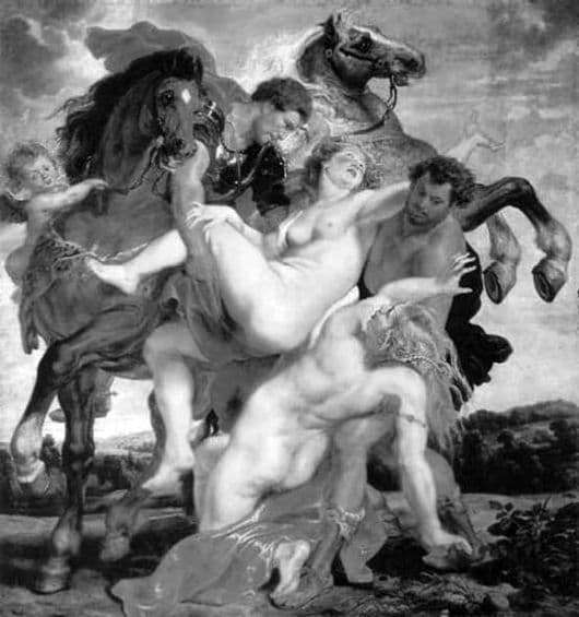 Description of the painting by Peter Rubens The Abduction of the Daughters of Leucippus