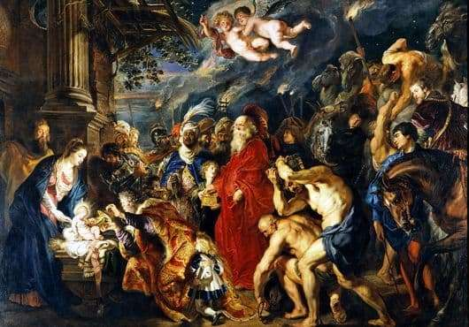 Description of the painting by Peter Rubens Adoration of the Magi