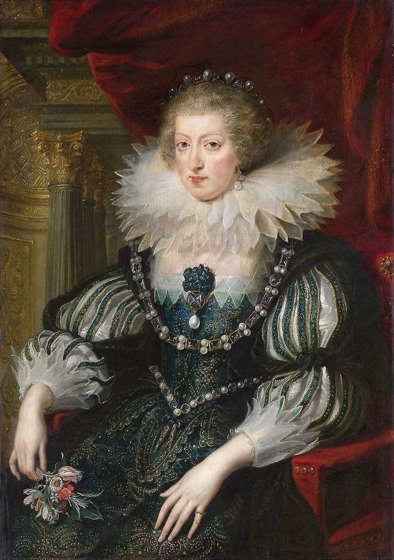 Description of the painting by Peter Rubens Portrait of Anna of Austria