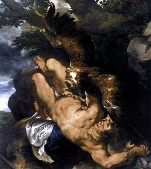 Description of the painting by Peter Rubens Prometheus Bound