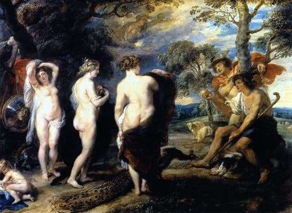 Description of the painting by Peter Rubens Judgment of Paris