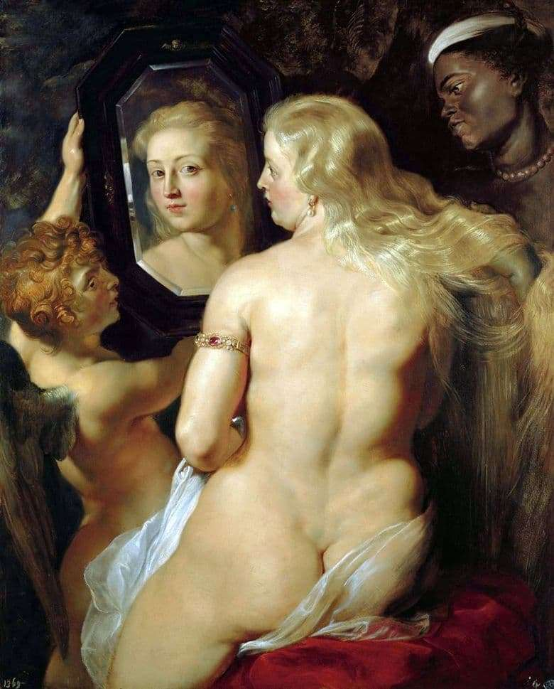 Description of the painting by Peter Rubens painting Toilet of Venus