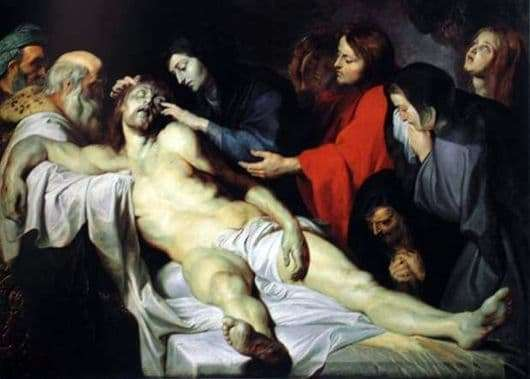 Description of the painting by Peter Rubens Lamentation of Christ