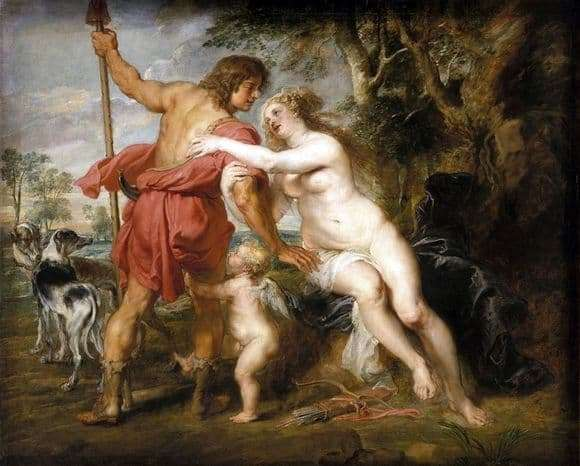 Description of the painting by Peter Rubens Venus and Adonis