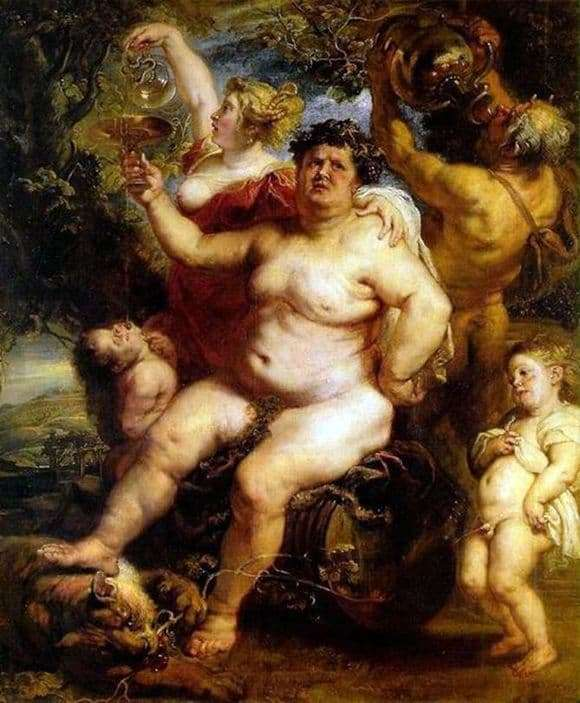 Description of the painting by Peter Rubens Bacchus