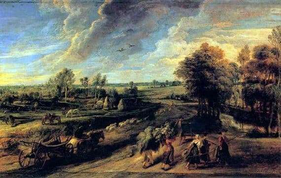 Description of the painting by Peter Rubens The Return of the Peasants from the Field