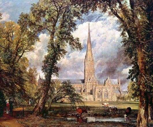 Description of the painting by John Constable Cathedral in Salisbury