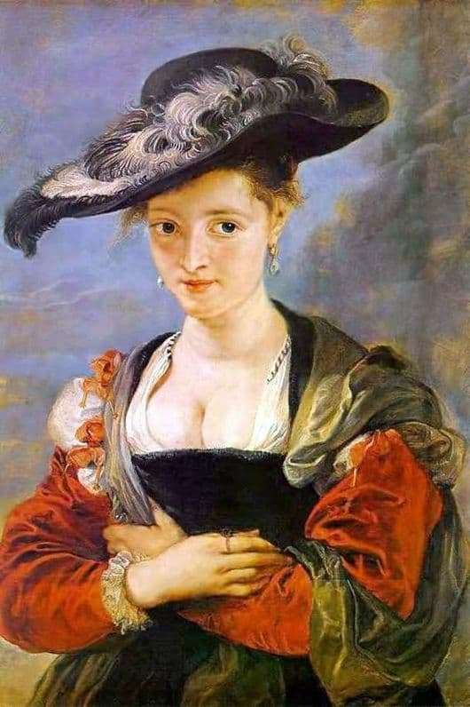Description of the painting by Peter Paul Rubens Straw hat