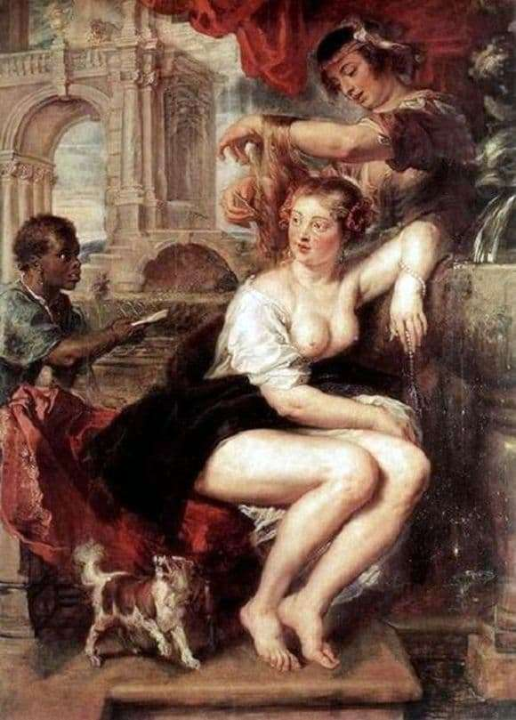 Description of the painting by Peter Rubens Bathsheba at the Fountain