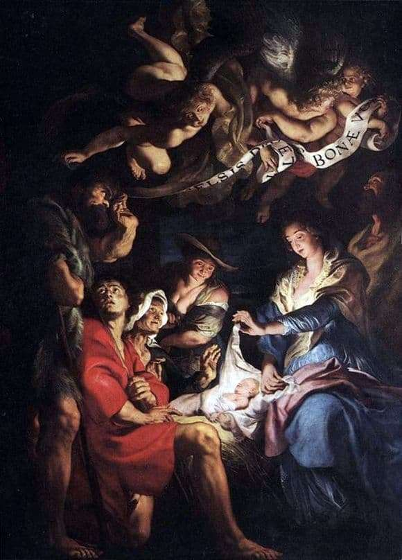 Description of the painting by Peter Rubens Adoration of the Shepherds