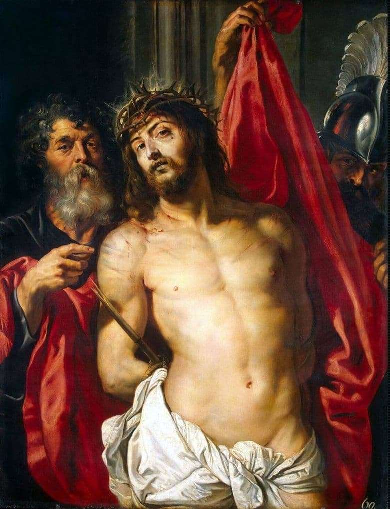 Description of the painting by Peter Rubens Christ in the crown of thorns