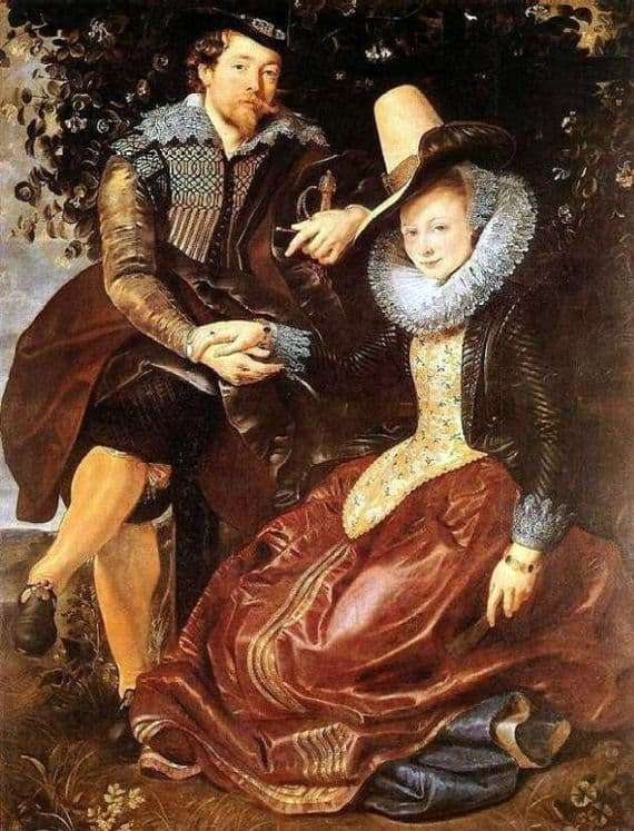 Description of the painting by Peter Rubens Self portrait with his wife Isabella