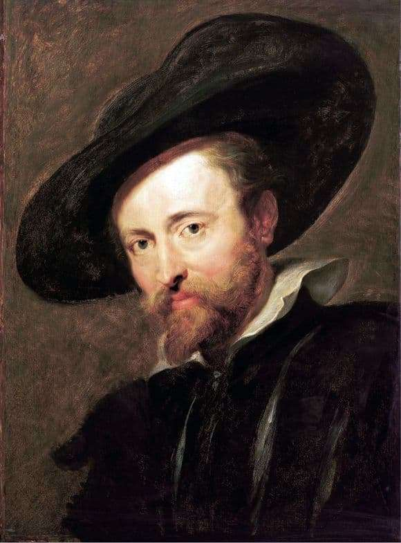 Description of the painting by Peter Rubens Self portrait