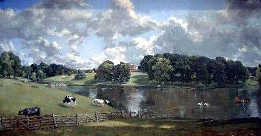 Description of the painting by John Constable Landscape