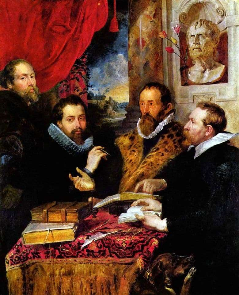 Description of the painting by Peter Rubens The Four Philosophers
