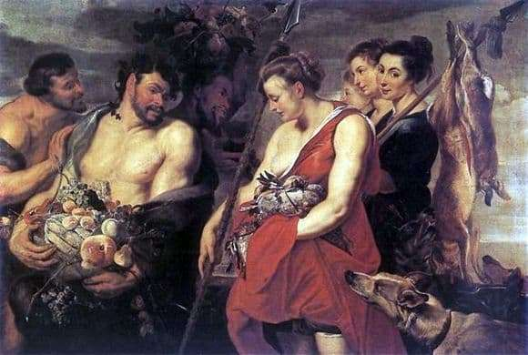 Description of the painting by Peter Rubens Return of Diana from the hunt