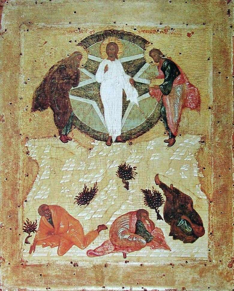 Description of the icon by Andrei Rublev Transfiguration of God